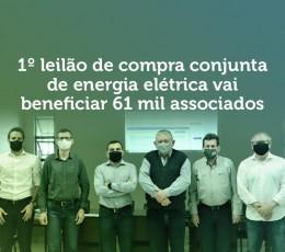 Cooperativas realizam 1º leilão de compra conjunta de energia elétrica